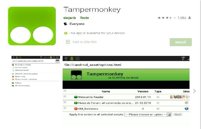 TamperMonkey install